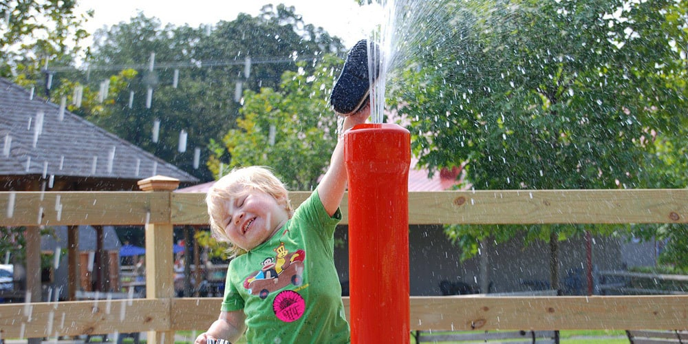 COOL OFF in the SPLASH PAD