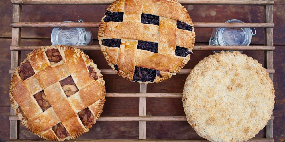 Lattice Top, Crumb and solid Crust Pies