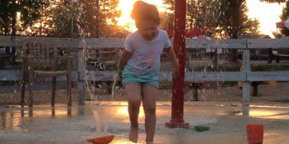 Sunset in the Splash pad